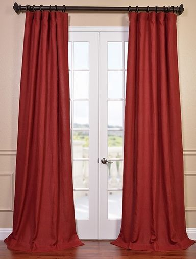 New: Tango Red French Linen Curtain | My Room | Curtains Regarding French Linen Lined Curtain Panels (View 37 of 50)