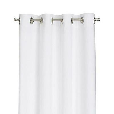 "New White 84"" Grommet Curtain Panel, 48"" Wide 
