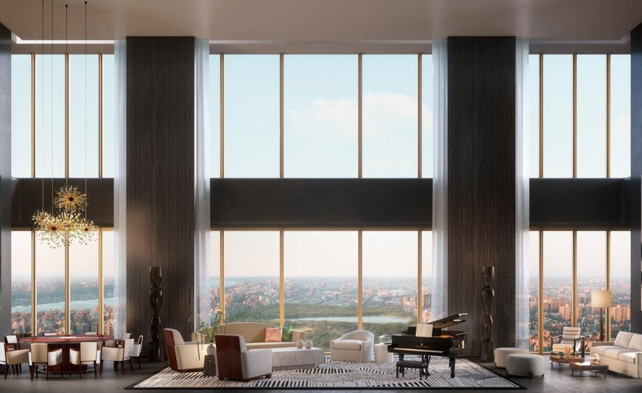 New York City's Latest Crop Of Luxury Residential Within Luxury Collection Summit Sheer Curtain Panel Pairs (#42 of 50)