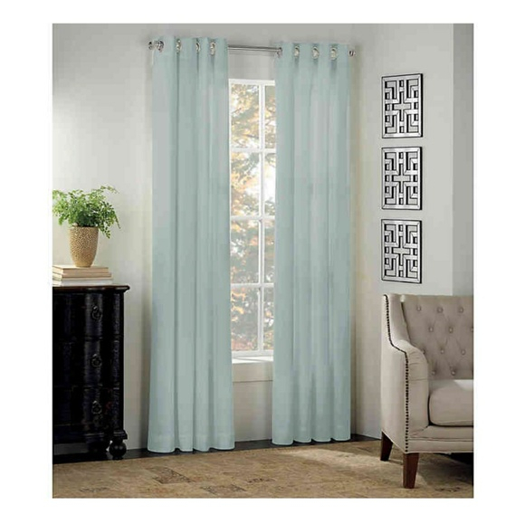Newport 50X63 Set Of 2 Grommet Panels Mist Nwt For Archaeo Washed Cotton Twist Tab Single Curtain Panels (View 16 of 21)