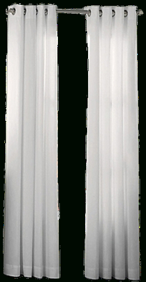 Newport 95 Inch Grommet Window Curtain Panel In White With Regard To Grommet Curtain Panels (#30 of 39)