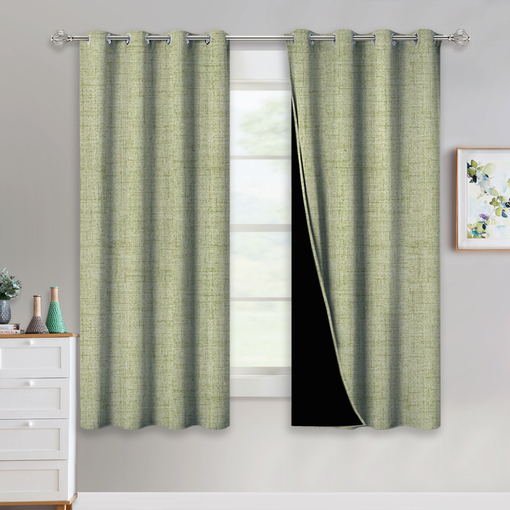 Nicetown Country Style Faux Linen Knitting Pattern Full Within Faux Linen Extra Wide Blackout Curtains (View 36 of 50)