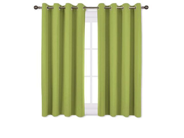 Nicetown Green Blackout Curtains For Windows – Home Decor Thermal Insulated Solid Grommet Top Blackout Curtains/panels/drapes For Kid's Room (1 Pair, With Solid Grommet Top Curtain Panel Pairs (View 20 of 35)