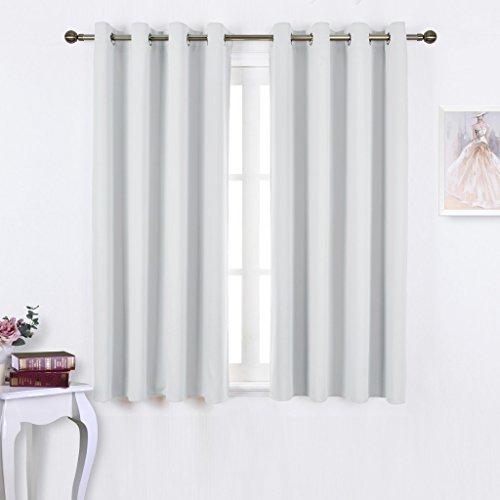 Nicetown Greyish White Room Darkening Curtain Panels – Window Treatment  Thermal Insulated Grommet Room Darkening Curtains/panels/drapes For Bedroom  (2 Within Grommet Room Darkening Curtain Panels (View 27 of 50)