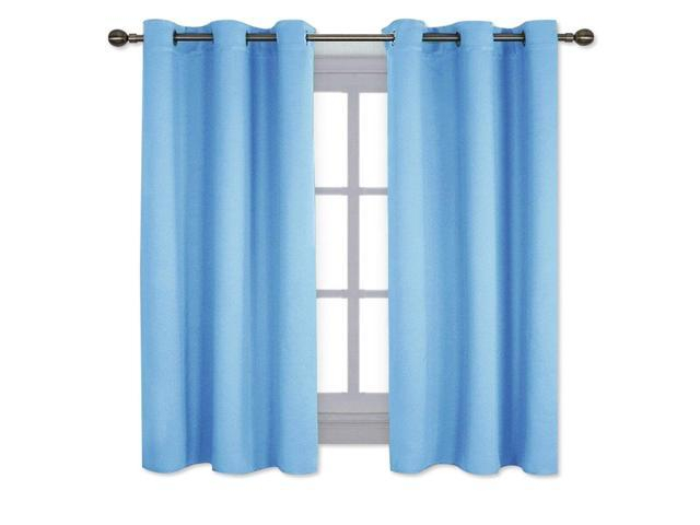 Nicetown Home Fashion Thermal Insulated Solid Grommet Blackout Curtain Panels For Bedroom (1 Pair,42 Inch Wide63 Inch Long,blue) – Newegg Throughout Solid Insulated Thermal Blackout Long Length Curtain Panel Pairs (View 11 of 50)