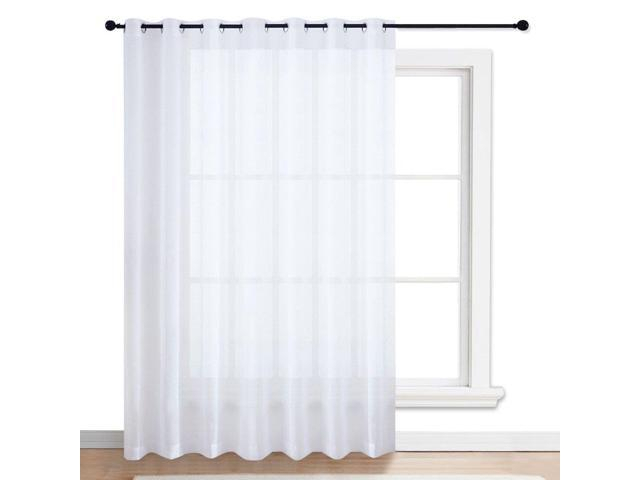 Nicetown Patio Door Sheer Curtain – Vertical Voile Drape, Extra Wide  Curtain Panel Window Treatment For Sliding Glass Door (White, 1 Piece, W100  X L84 Inside Extra Wide White Voile Sheer Curtain Panels (View 30 of 50)