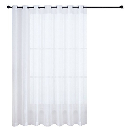 Nicetown Patio Door Sheer Curtain – Vertical Voile Drape, Extra Wide  Curtain Panel Window Treatment For Sliding Glass Door (White, 1 Piece, W100  X L84 Regarding Extra Wide White Voile Sheer Curtain Panels (View 31 of 50)