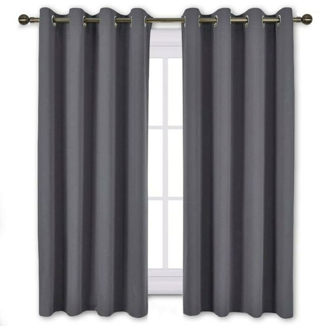 Nicetown Window Treatment Thermal Insulated Solid Grommet Blackout Intended For Solid Thermal Insulated Blackout Curtain Panel Pairs (View 8 of 50)