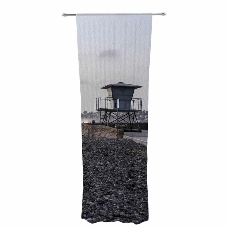 Nick Nareshni Lifeguard On The Rocks Graphic Print & Text Sheer Rod Pocket Curtain Panels Throughout Luxury Collection Summit Sheer Curtain Panel Pairs (View 10 of 50)