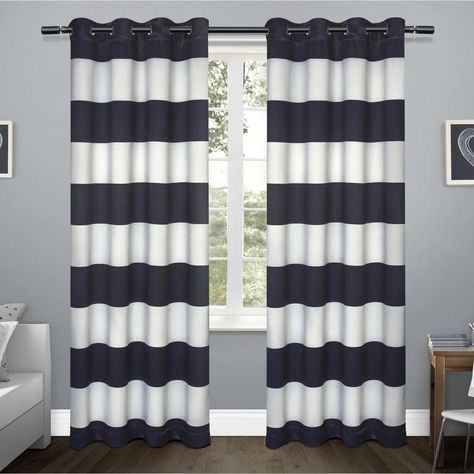 Nieman Striped Room Darkening Thermal Grommet Panel Pair Inside Julia Striped Room Darkening Window Curtain Panel Pairs (#29 of 37)