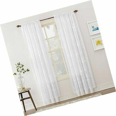 Popular Photo of Alison Rod Pocket Lace Window Curtain Panels