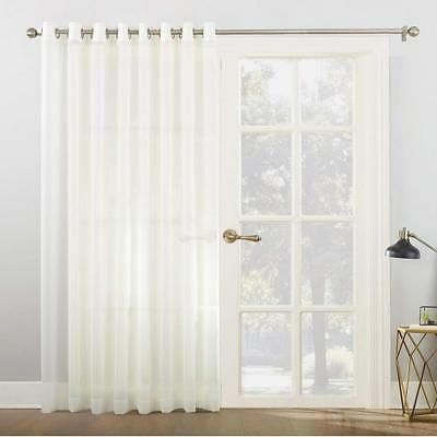 Popular Photo of Emily Sheer Voile Solid Single Patio Door Curtain Panels