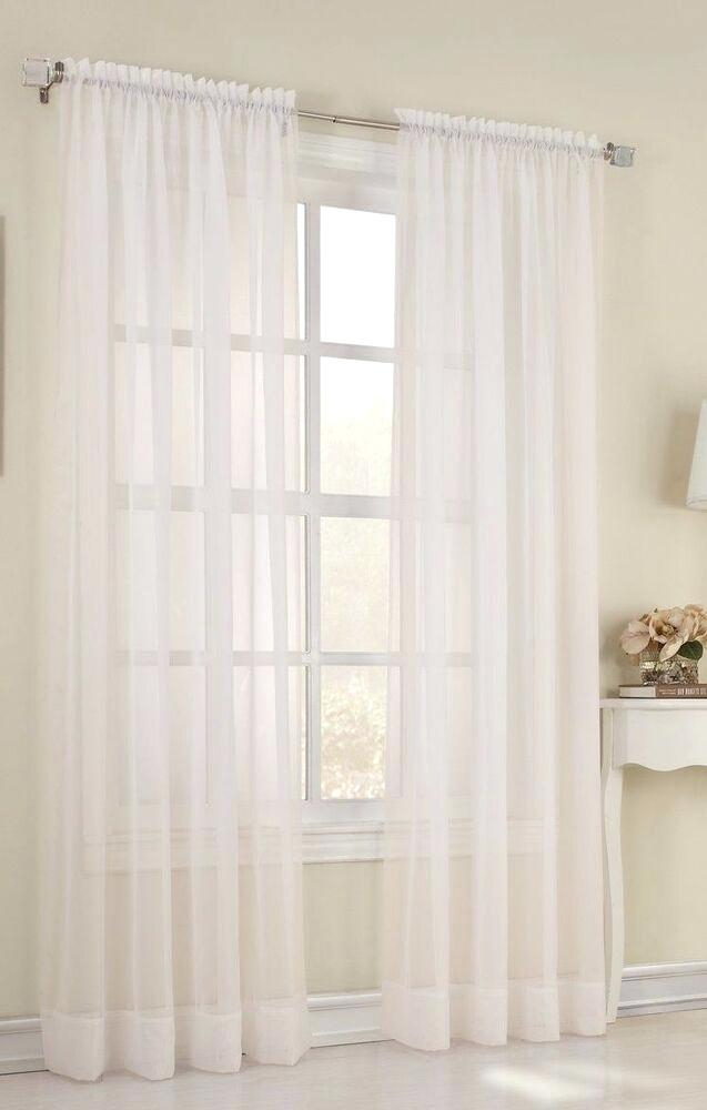 No 918 Emily Sheer Voile Rod Pocket Curtain Panel Pertaining To Emily Sheer Voile Solid Single Patio Door Curtain Panels (View 19 of 50)