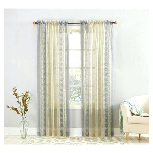 No 918 Emily Sheer Voile Rod Pocket Curtain Panel Regarding Emily Sheer Voile Solid Single Patio Door Curtain Panels (View 20 of 50)