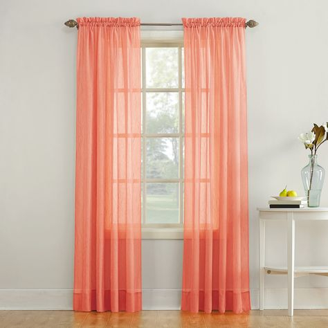 No 918 Erica Crushed Sheer Voile Window Curtain | Products Inside Erica Crushed Sheer Voile Grommet Curtain Panels (#25 of 50)
