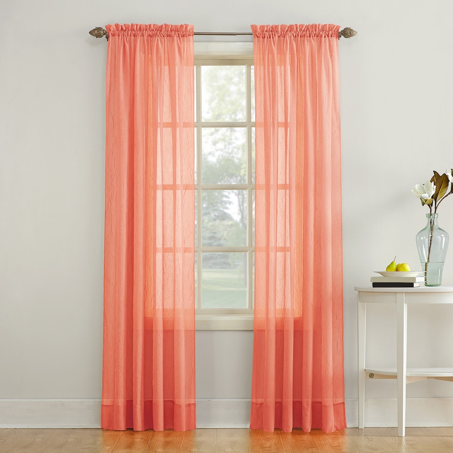 No 918 Erica Crushed Sheer Voile Window Curtain | Sheer In Erica Sheer Crushed Voile Single Curtain Panels (#28 of 41)