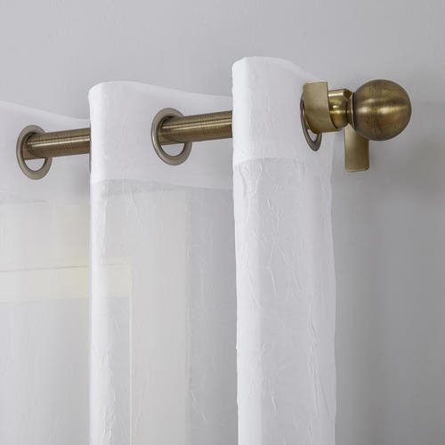 Popular Photo of Erica Crushed Sheer Voile Grommet Curtain Panels