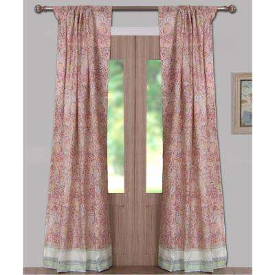 None – Curtains & Drapes – Window Treatments – The Home Depot Pertaining To Pastel Damask Printed Room Darkening Grommet Window Curtain Panel Pairs (#35 of 50)