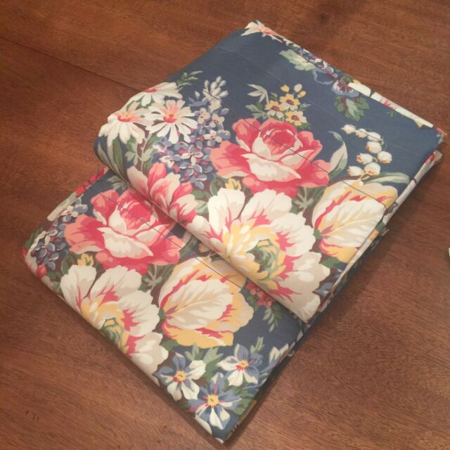"""Nos Ralph Lauren Kimberly Floral Lined Curtain Panels Pair Drapes Rod  Pocket 84"""" Inside Hayden Rod Pocket Blackout Panels (View 27 of 43)"""