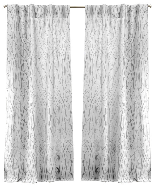 Oakdale Motif Textured Linen Hidden Tab Top Curtain Panel Pair, Dove Gray,  54X96 With Regard To Oakdale Textured Linen Sheer Grommet Top Curtain Panel Pairs (#30 of 41)