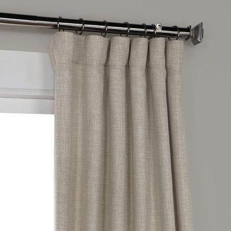 Oatmeal Faux Linen Blackout Room Darkening Curtain   Obispo For Faux Linen Blackout Curtains (#35 of 50)