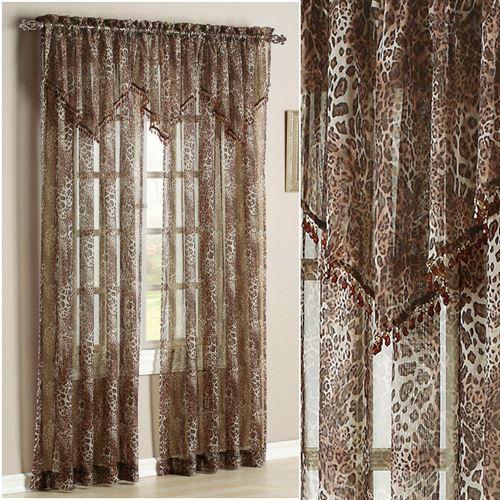 Ocelot Safari Window Treatment Regarding Inez Patio Door Window Curtain Panels (#30 of 50)