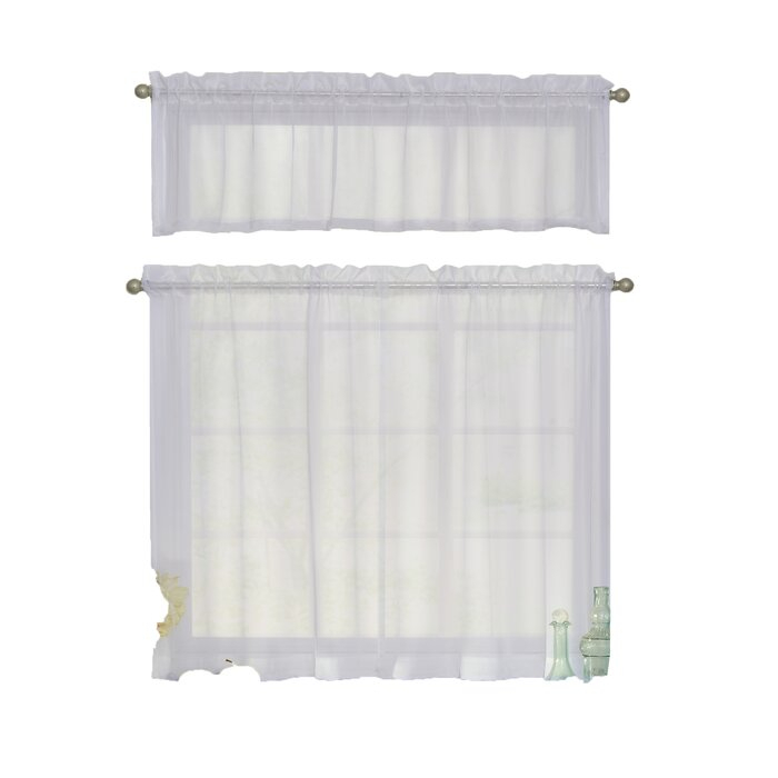 """Odor Neutralizing 46"""" Valence & Tier Set Inside Arm And Hammer Curtains Fresh Odor Neutralizing Single Curtain Panels (View 5 of 50)"""