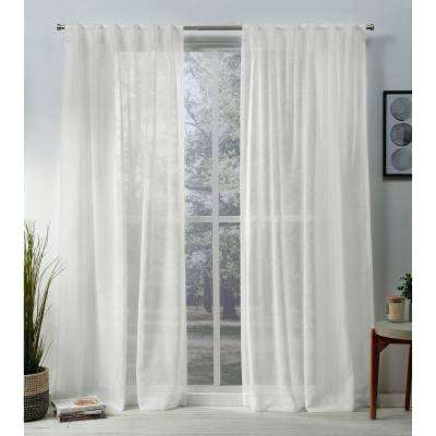 Off White Curtains Porch Den Sateen Woven Blackout Curtain Intended For Sateen Woven Blackout Curtain Panel Pairs With Pinch Pleat Top (View 32 of 40)
