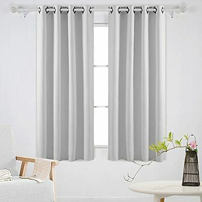 Off White  Thermal Insulated Blackout Grommet Window Curtain Panel Pair  52X63 | Ebay For Thermal Insulated Blackout Grommet Top Curtain Panel Pairs (#32 of 50)