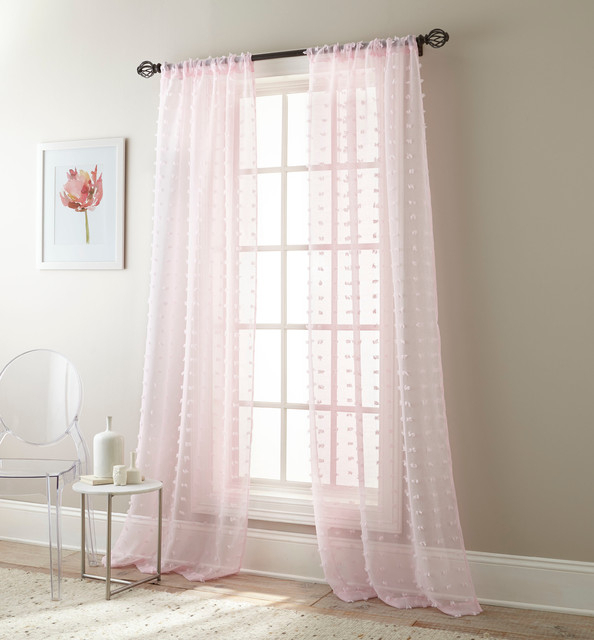 Olly Solid Sheer Curtain Panel Pair With Penny Sheer Grommet Top Curtain Panel Pairs (#37 of 49)