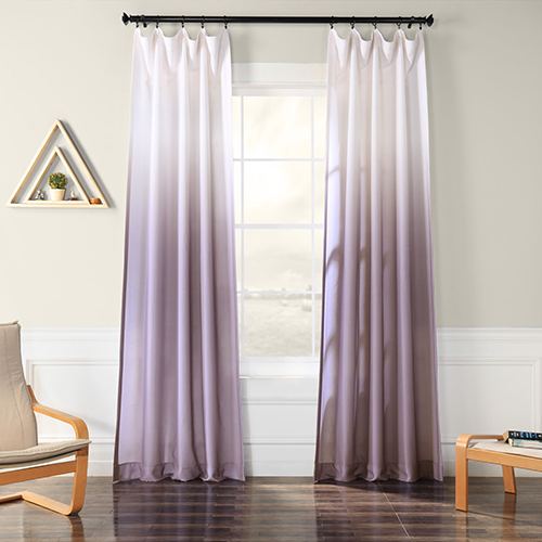 Ombre Faux Linen Semi Sheer Ombre Plum 96 X 50 Inch Curtain Single Panel Within Ombre Embroidery Curtain Panels (View 50 of 50)