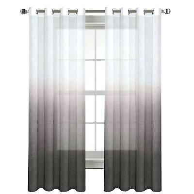 Ombre Sheer Curtains For Ombre Faux Linen Semi Sheer Curtains (View 19 of 50)