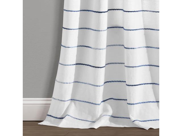 Ombre Stripe Yarn Dyed Cotton Window Curtain Panels Navy/multi 40X95 Set – Newegg In Ombre Stripe Yarn Dyed Cotton Window Curtain Panel Pairs (View 16 of 31)