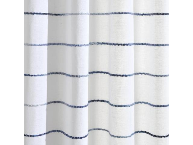 Ombre Stripe Yarn Dyed Cotton Window Curtain Panels Navy/multi 40X95 Set – Newegg Regarding Ombre Stripe Yarn Dyed Cotton Window Curtain Panel Pairs (View 22 of 31)