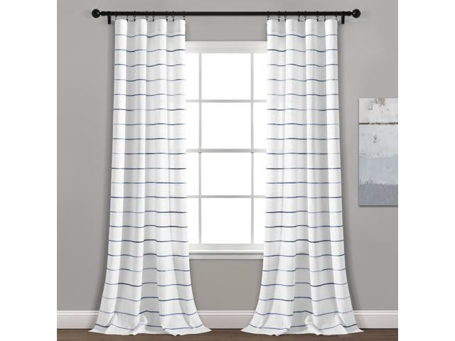 Popular Photo of Ombre Stripe Yarn Dyed Cotton Window Curtain Panel Pairs