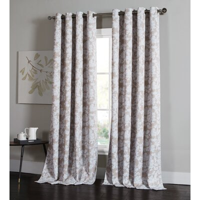 One Allium Way Pilger Nature/floral Light Filtering Rod With Pairs To Go Victoria Voile Curtain Panel Pairs (#9 of 30)