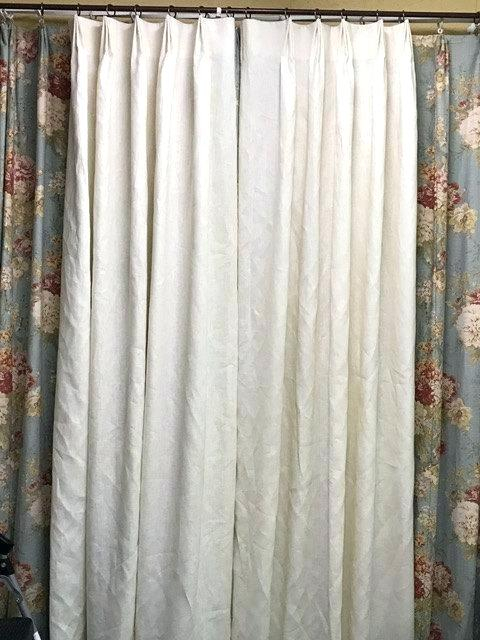 One Pair Linen Drapery Panels Euro Pleat Detail White Lining Throughout Signature French Linen Curtain Panels (#29 of 50)