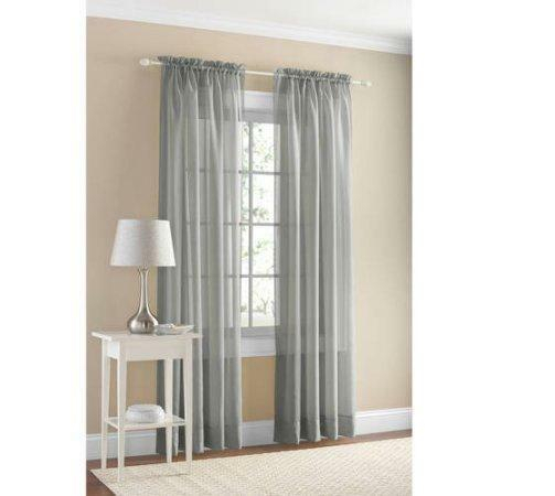 One Pair Of Mainstays Marjorie Sheer Voile Curtain Panels, Coral, 4+4 Free For Emily Sheer Voile Single Curtain Panels (View 24 of 41)