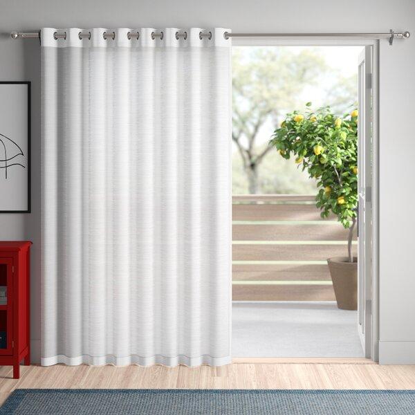 One Panel Patio Door Curtain | Wayfair With Emily Sheer Voile Solid Single Patio Door Curtain Panels (View 30 of 50)