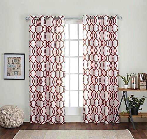 Orange And White Curtains – Tabassum For Abstract Blackout Curtain Panel Pairs (View 30 of 46)