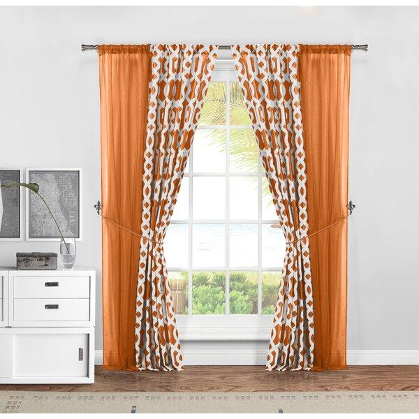 Orange Curtains Set Of 2 | Wayfair Regarding Classic Hotel Quality Water Resistant Fabric Curtains Set With Tiebacks (#27 of 50)