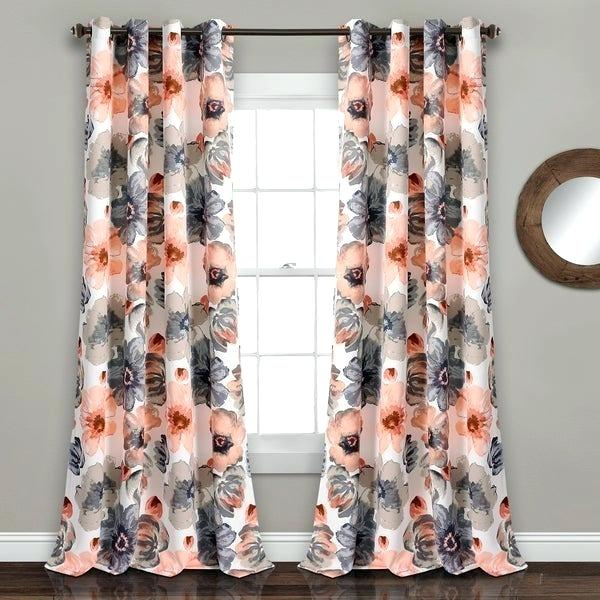 Orange Floral Curtains – Mindhigh (View 20 of 50)