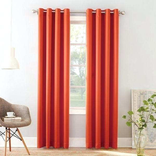 Orange Grommet Curtains – Offplanproperty (#26 of 50)