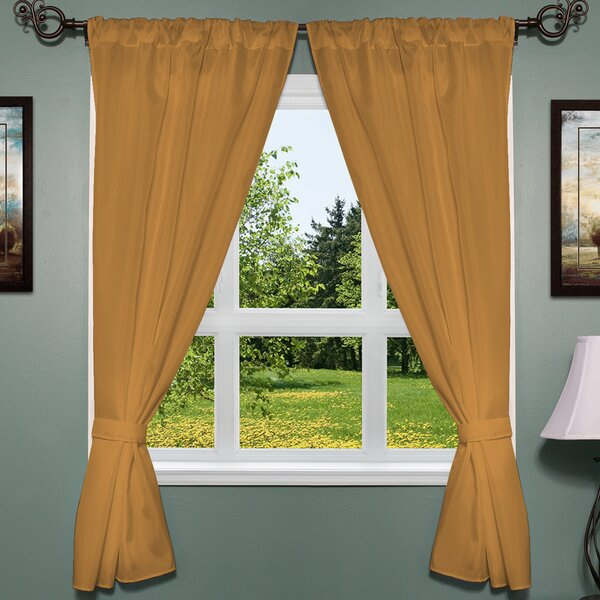 Orange Window Treatments | Wayfair With Regard To Classic Hotel Quality Water Resistant Fabric Curtains Set With Tiebacks (#28 of 50)