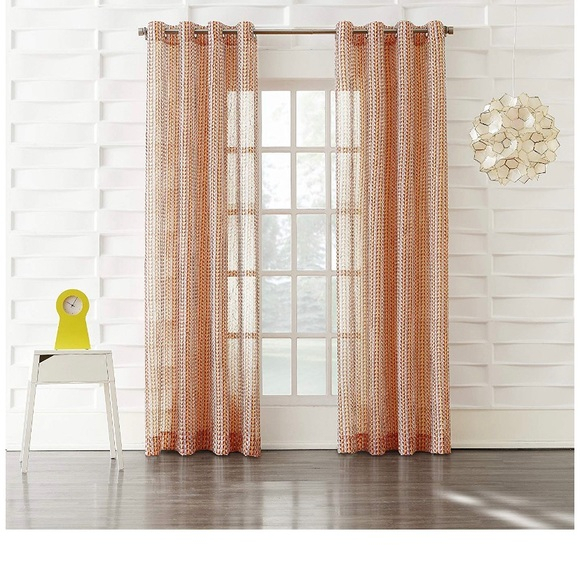 Ordway Curtain Panel Tangerine Orange Boutique Intended For Lydia Ruffle Window Curtain Panel Pairs (View 26 of 43)