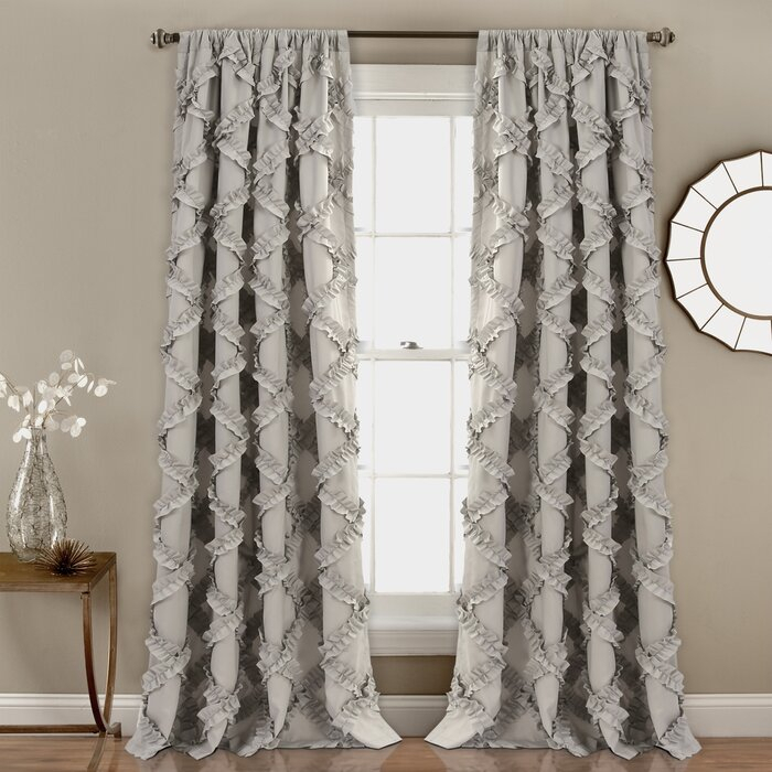 Ornellas Geometric Rod Pocket Curtain Panels Regarding Rod Pocket Curtain Panels (View 25 of 34)