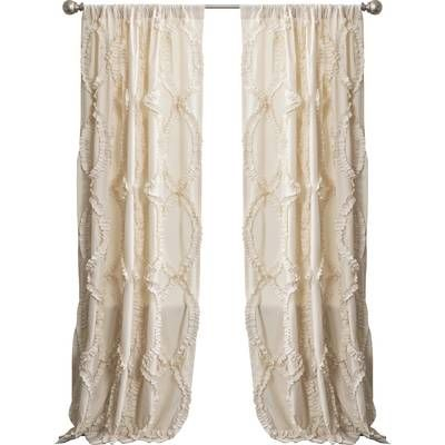 Oropeza Solid Sheer Rod Pocket Single Curtain Panel In 2019 With Regard To Vue Elements Priya Tab Top Window Curtains (View 11 of 36)