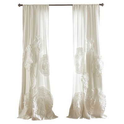 Oropeza Solid Sheer Rod Pocket Single Curtain Panel Throughout Luxury Collection Venetian Sheer Curtain Panel Pairs (#29 of 36)