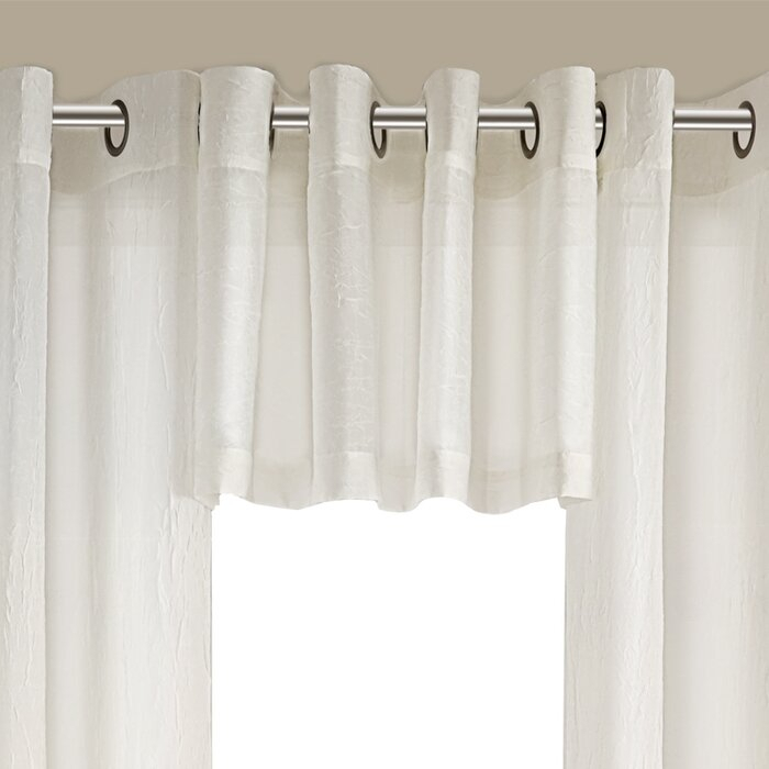 Ortley Crushed Voile Solid Sheer Grommet Curtain Panel Pair Within Erica Crushed Sheer Voile Grommet Curtain Panels (#39 of 50)