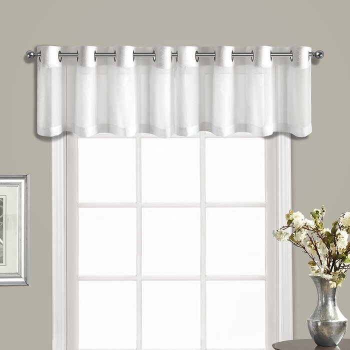 Ortley Topper 1 Pieces Curtain Valance Within Pairs To Go Victoria Voile Curtain Panel Pairs (#11 of 30)